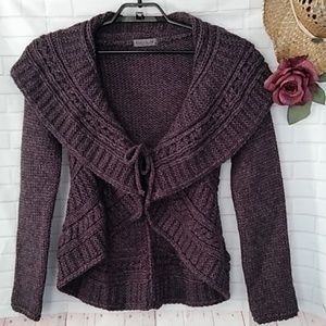 Elsamanda Wool Blend Shawl Collar Cardigan Sweater